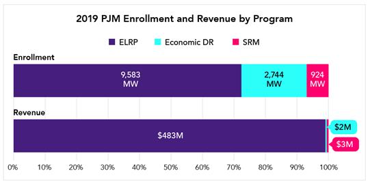 2019 PJM Enrollment and Revenue by Program