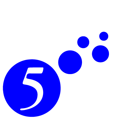 small 5 logo side space