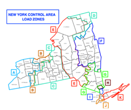 New york commentary June 2019 new control area load zones chart