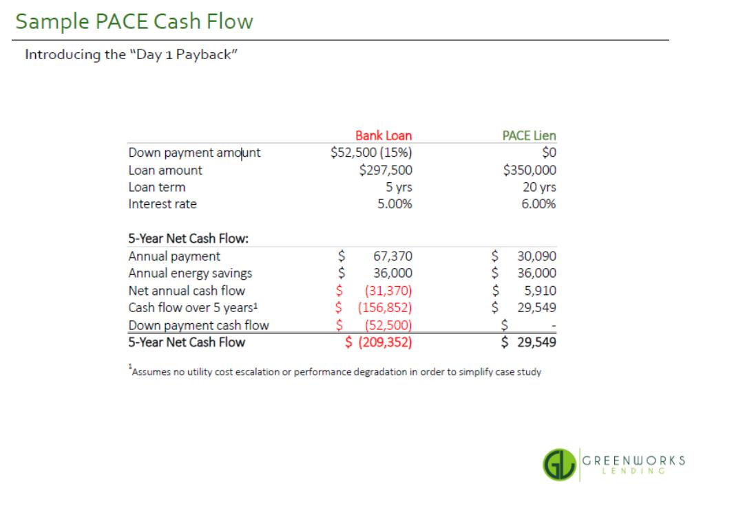 Sample PACE Cash Flow
