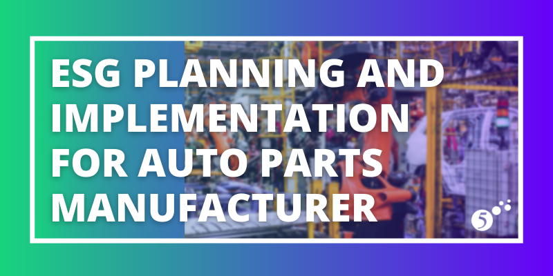 ESG Planning and Implementation for Auto Parts Manufacturer